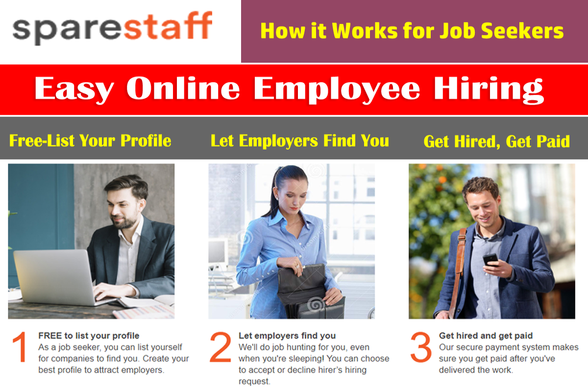 How it works for job seekers on Spare Staff